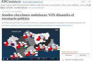 Sondeo elecciones andaluzas: VOX dinamita el escenario político (ABC de Sevilla)