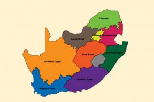 Mapa de Sudáfrica dividido por regiones. (FOTO: Gobierno de Sudáfrica)