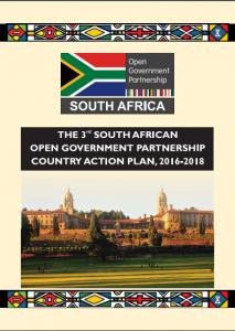 Tercer Plan de Acción Nacional de la Asociación de Gobierno Abierto de Sudáfrica. (FOTO: Gobierno de Sudáfrica)