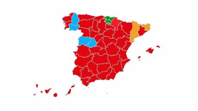 Mapa de los resultados de las Elecciones Generales 2019 en España. (FOTO: Vozpópuli).