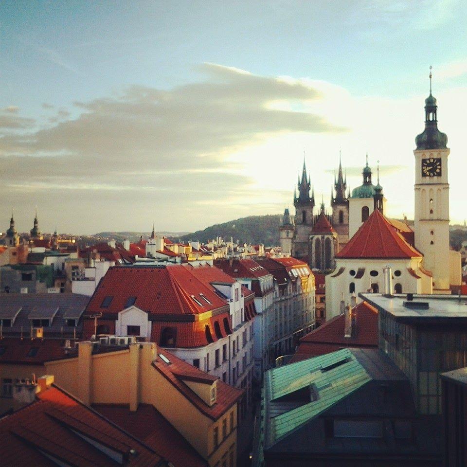 Vista desde la terraza de Praga.