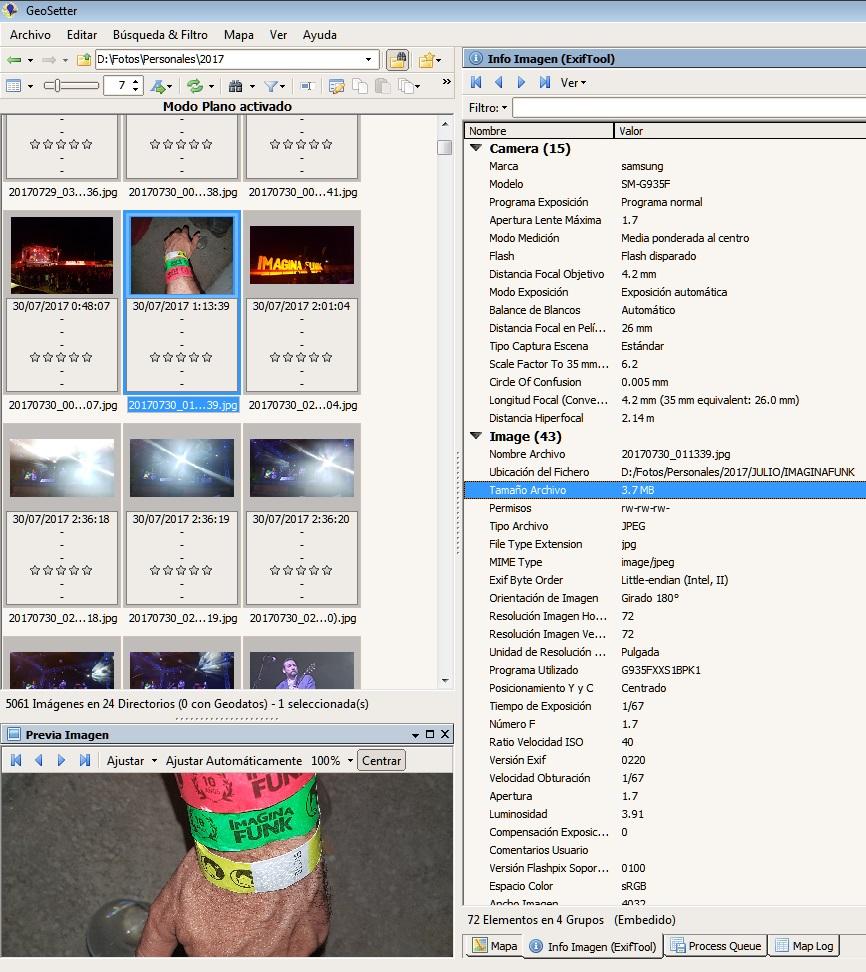 Extracción de metadatos con GeoSetter