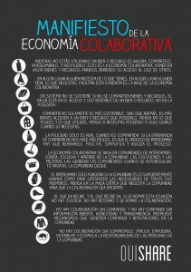 Principios en los que se basa el modelo de economía colaborativa.