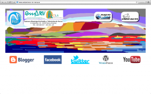 Página de inicio de Onda Minera RTV Nerva en Internet