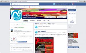 Página Fecebook de Onda Minera