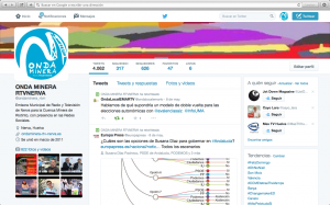 Página Twitter de Onda Minera