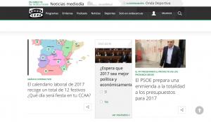El calendario interactivo de Onda Cero