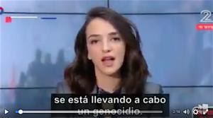 Fotográma del vídeo de Lucy Aharis