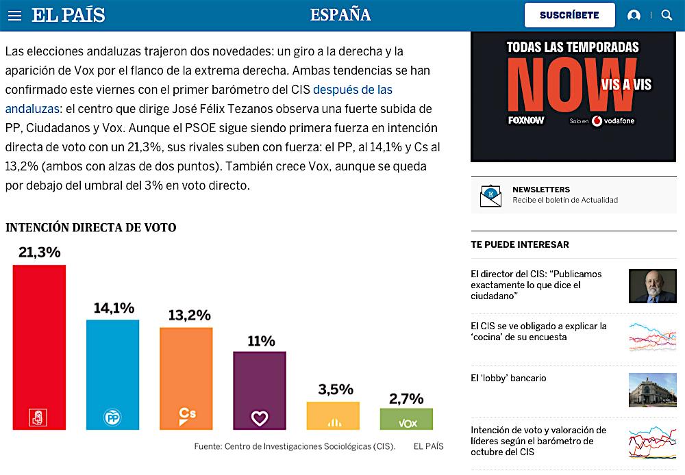 noticia publicada en El País