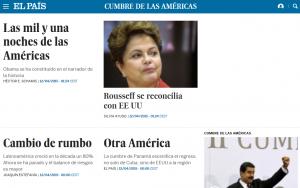 Cubrimiento de El País