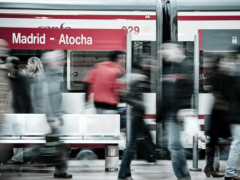 Trenes estación de Atocha. Madrid