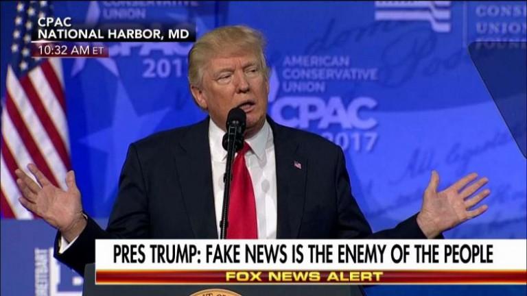 El presidente de EEUU, Donald Trump, en una conferencia de prensa.